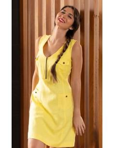 Vestido de lino amarillo
