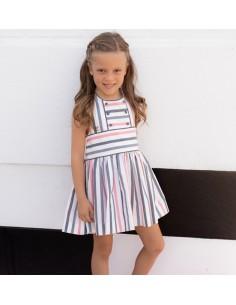 Vestido niña con canesú.