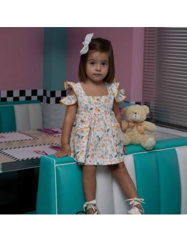 copy of Vestido niña con canesú.