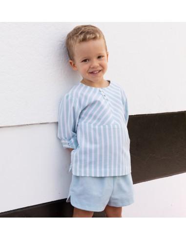 Patrón conjunto de camisa y pantalón