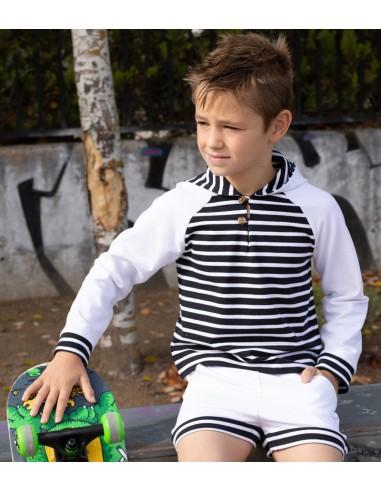 Patrón conjunto de sudadera de niño...