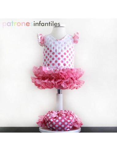 Patrón de vestido flamenco de bebé