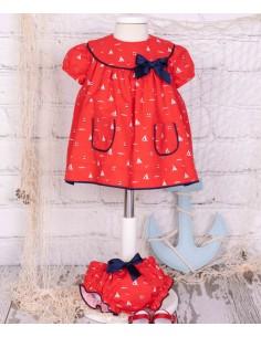 Patrón vestido marinero