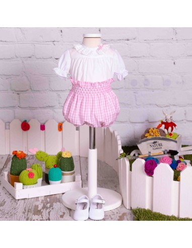 Blouse and diaper cover outfit