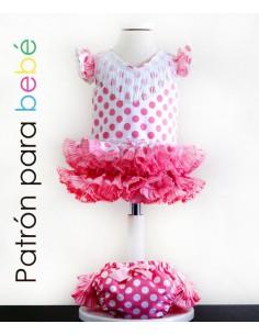 Patrón de vestido flamenco...
