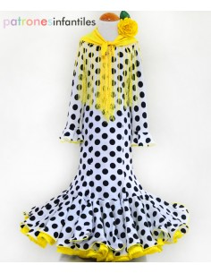 Patrón de vestido flamenca...