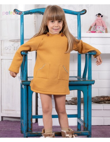 Molde de vestido de sudadera con capucha