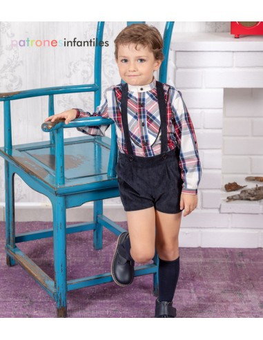 copy of Patrón vestido de cuadros