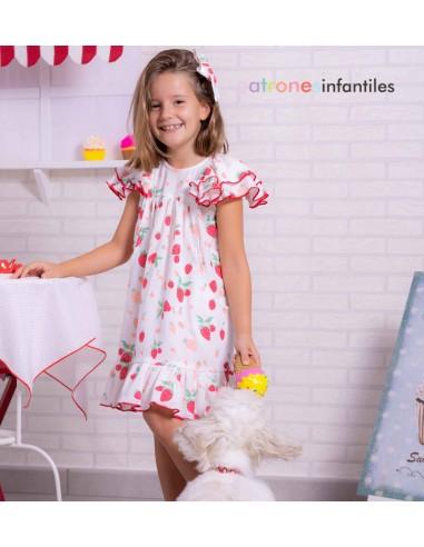 Patrón vestido de fresas