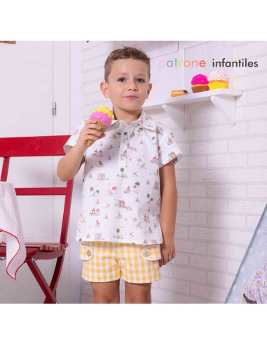 Shirt and pants outfit for boy
