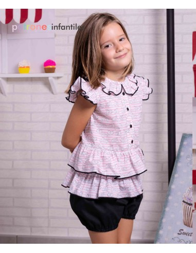 Ruffle shirt and bloomers outfit