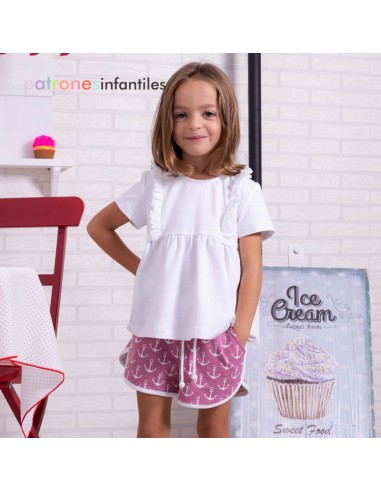 Top and bloomer outfit
