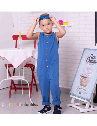 Blue dungarees for boy