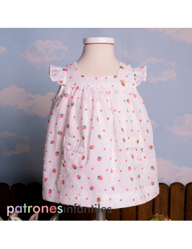 Pattern dress with a square neckline
