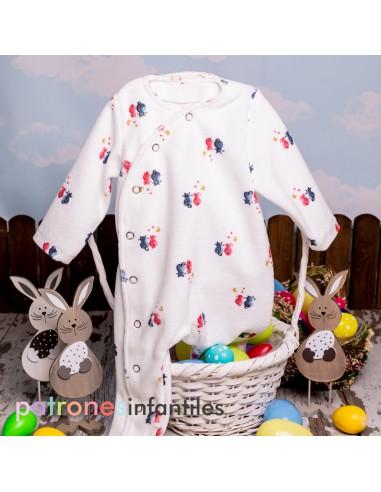 Molde pijama cruzado
