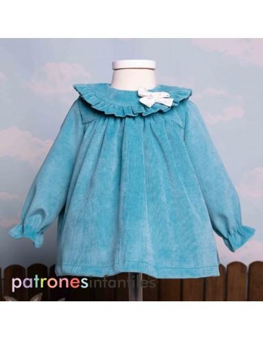 Pattern baby cord dress