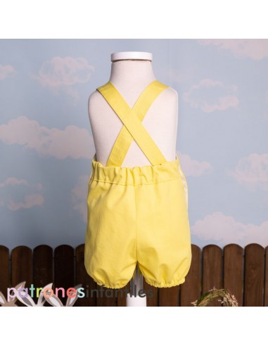 Pattern yellow dungaree for baby