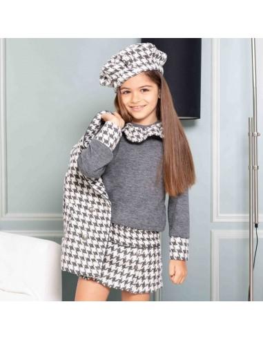Patrón de conjunto de falda y jersey