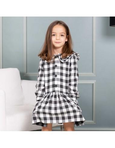 Pattern Black plaid dress