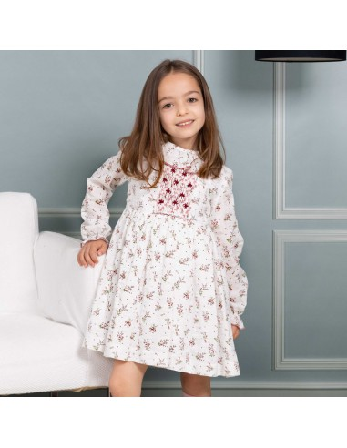 Pattern interlock smock dress
