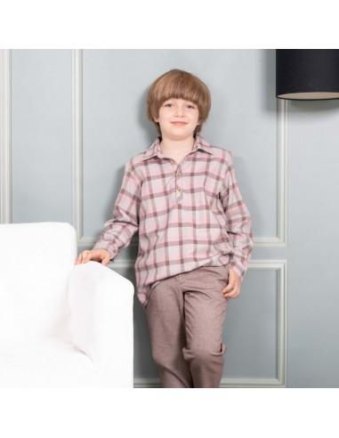 Patrón de conjunto de camisa y pantalón