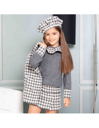 Pattern Sweater and skirt outfit