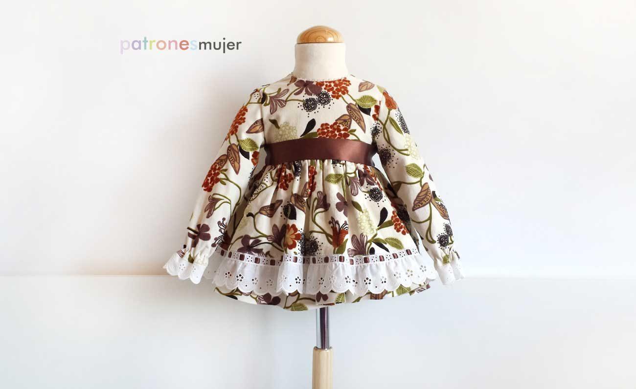 Vestido niña de manga larga: DIY - Patronesmujer: Blog de costura ...