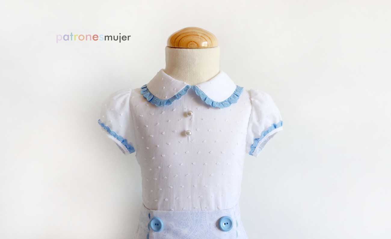 Blusa niña con manga farol: DIY - Patronesmujer: Blog de costura ...