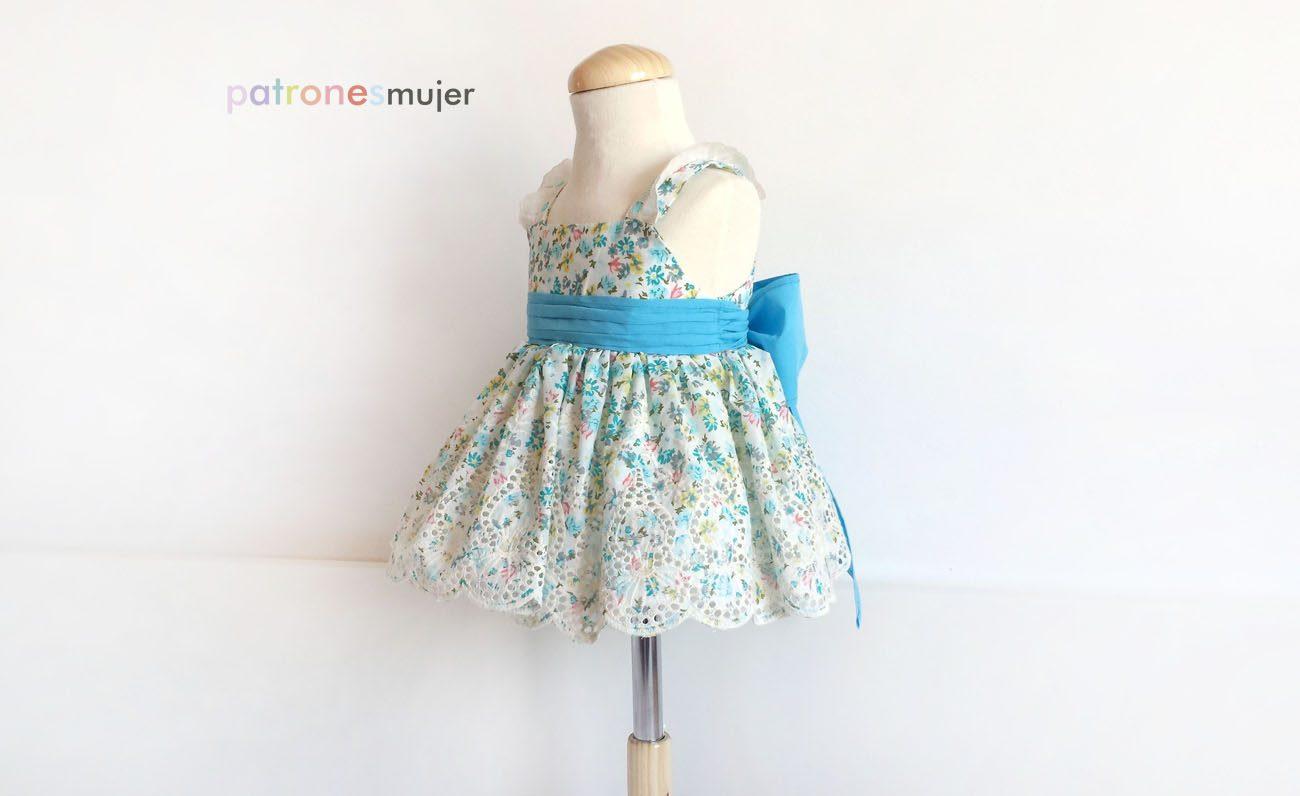 Vestido niña con lazo: DIY - Patronesmujer: Blog de costura ...