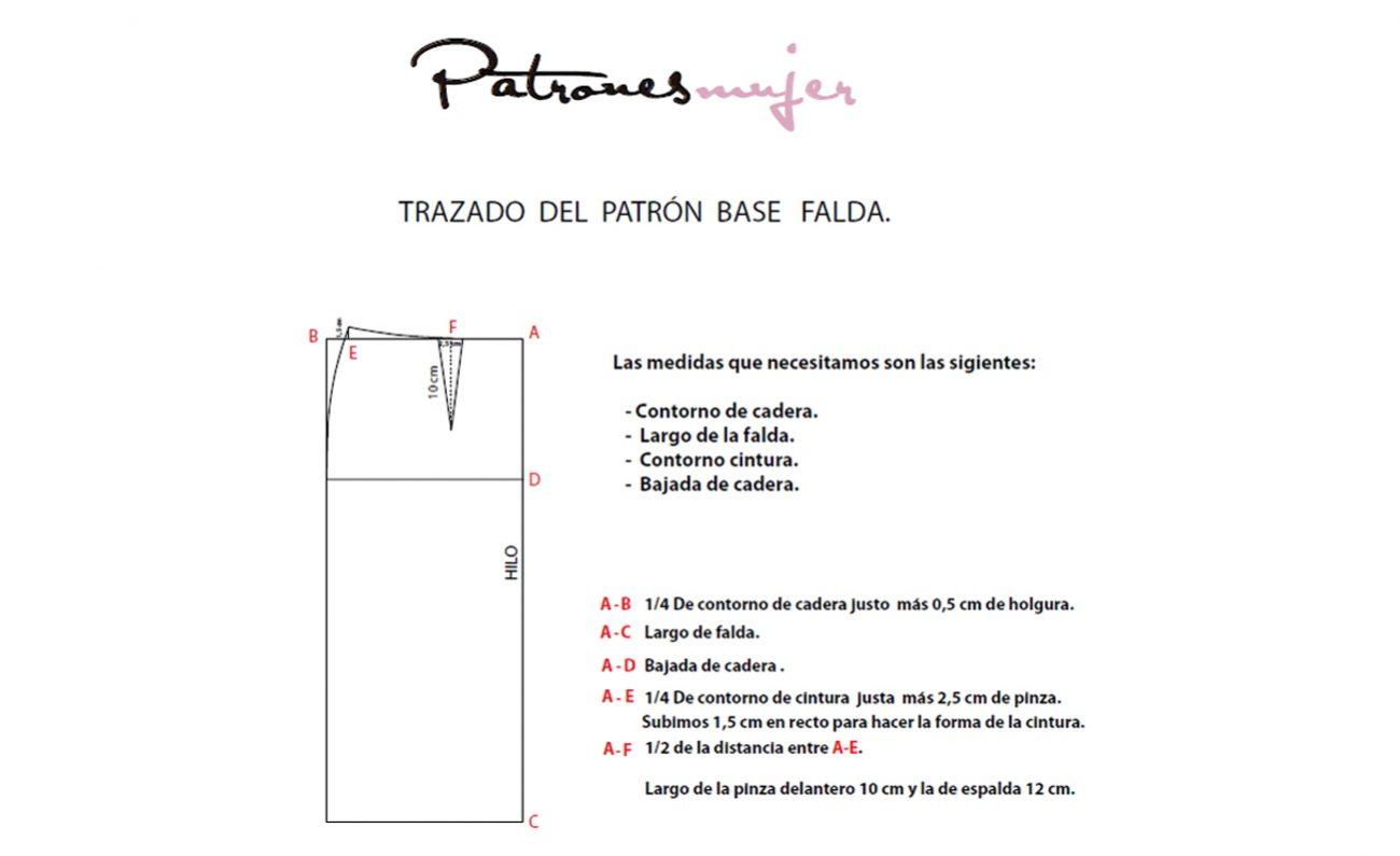 92978a096 Trazado del patrón base de falda. - Patronesmujer: Blog de costura ...