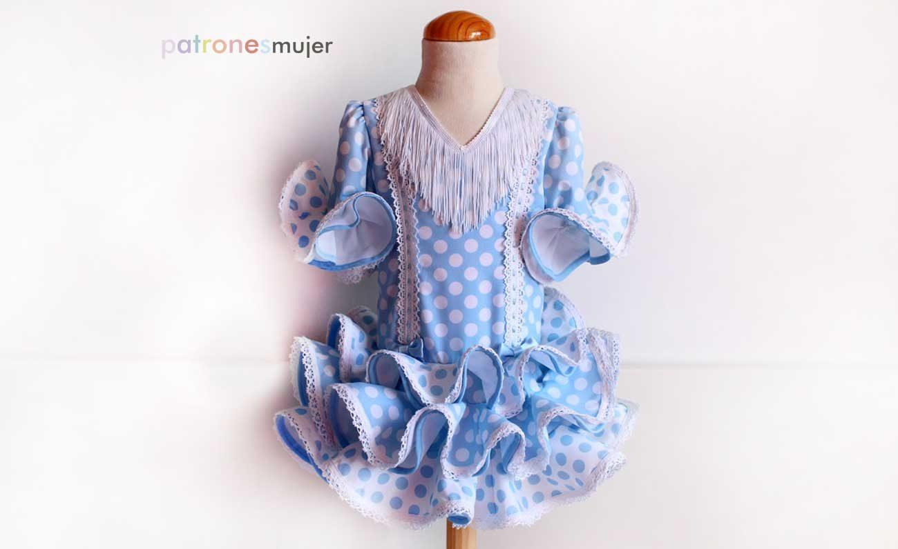 39310cf0dd Vestido flamenca de niña estilo Marisol. - Patronesmujer: Blog de ...