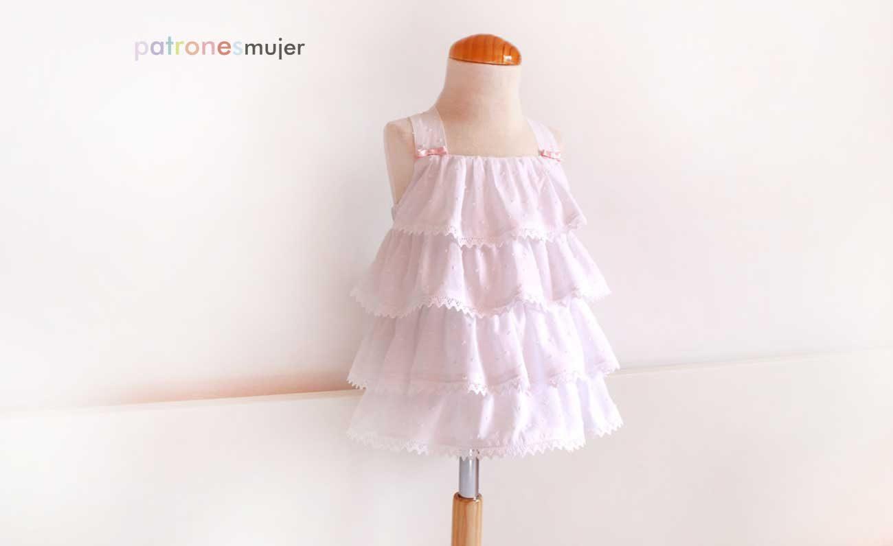 Vestido de plumeti blanco: Costura niñas. - Patronesmujer: Blog de ...