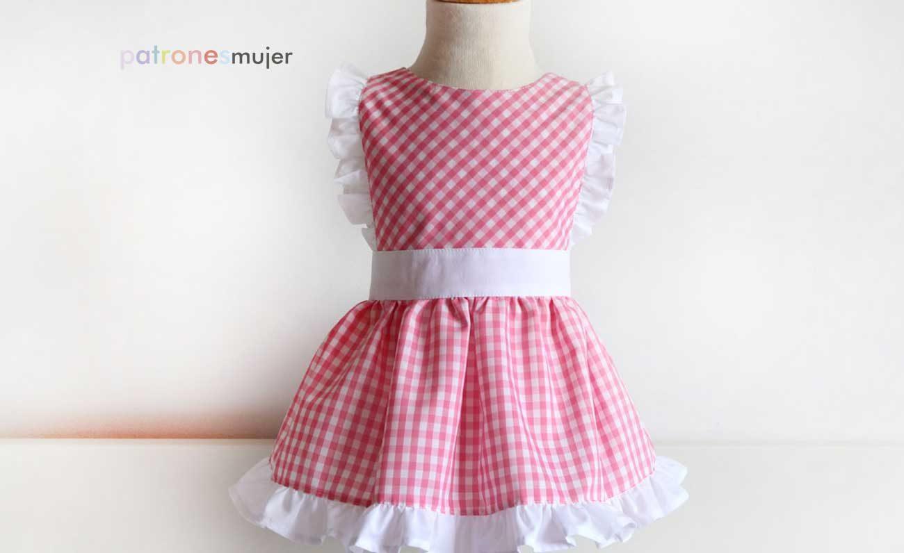 Mandil de niña: DIY - Patronesmujer: Blog de costura, patrones y telas.