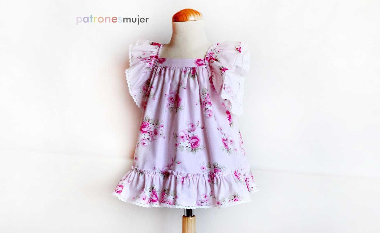 Vestido de rosas: Patrones niña. - Patronesmujer: Blog de costura ...