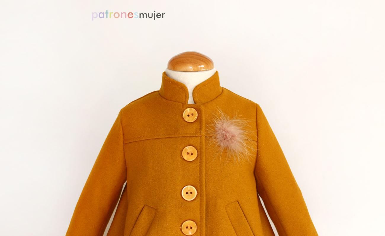 para color Abrigos mujer mostaza Abrigos color HpWqwfz