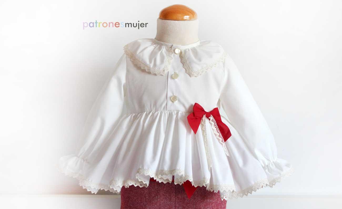 Blusa de niña con bajo asimétrico: Patrones. - Patronesmujer: Blog ...