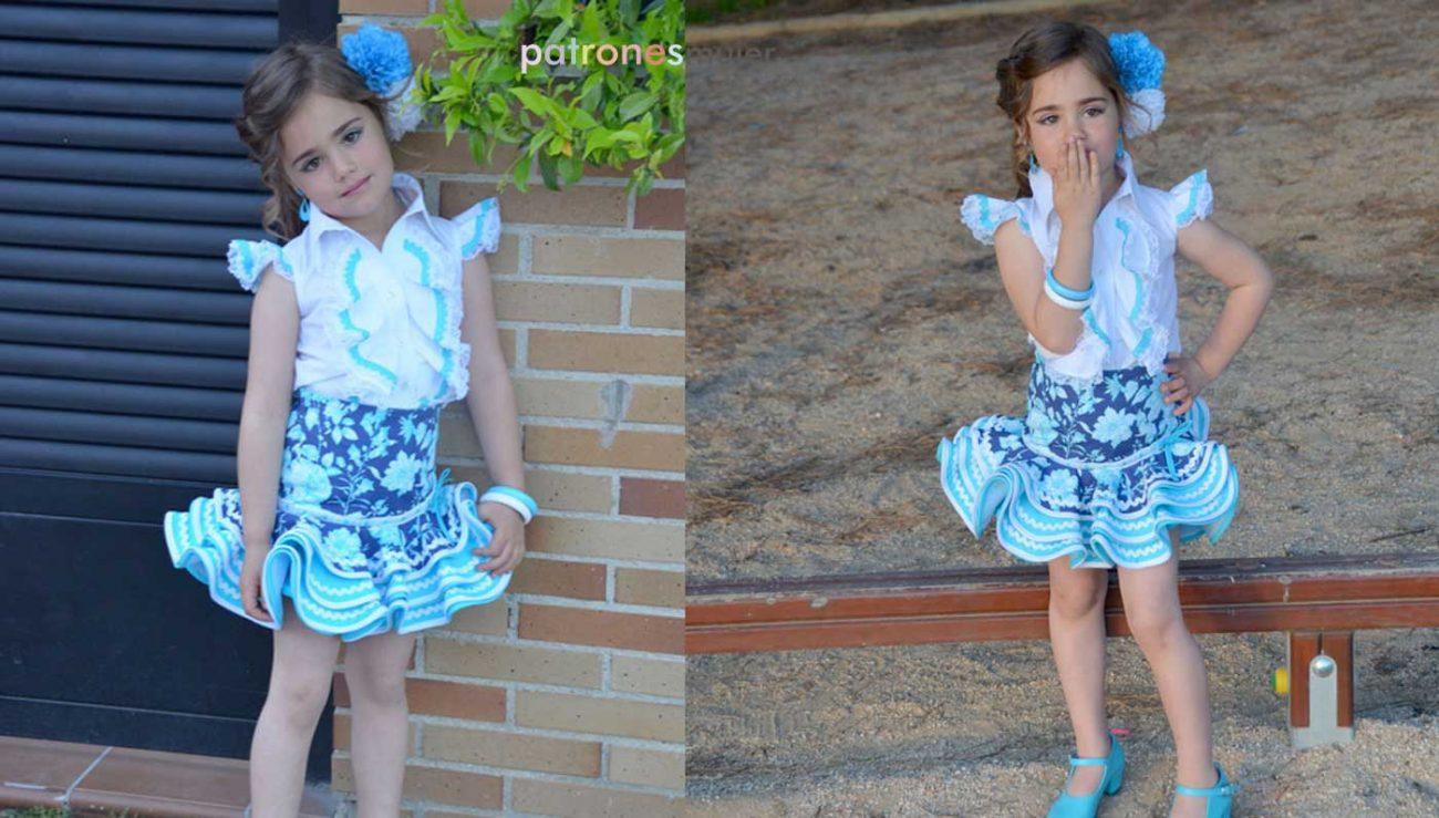 Conjunto flamenca estilo Marisol  Patrones de niña. - Patronesmujer ... 554bc9db590