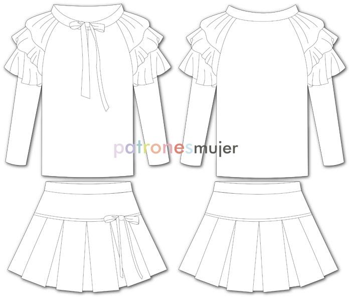 conjunto falda de tablas