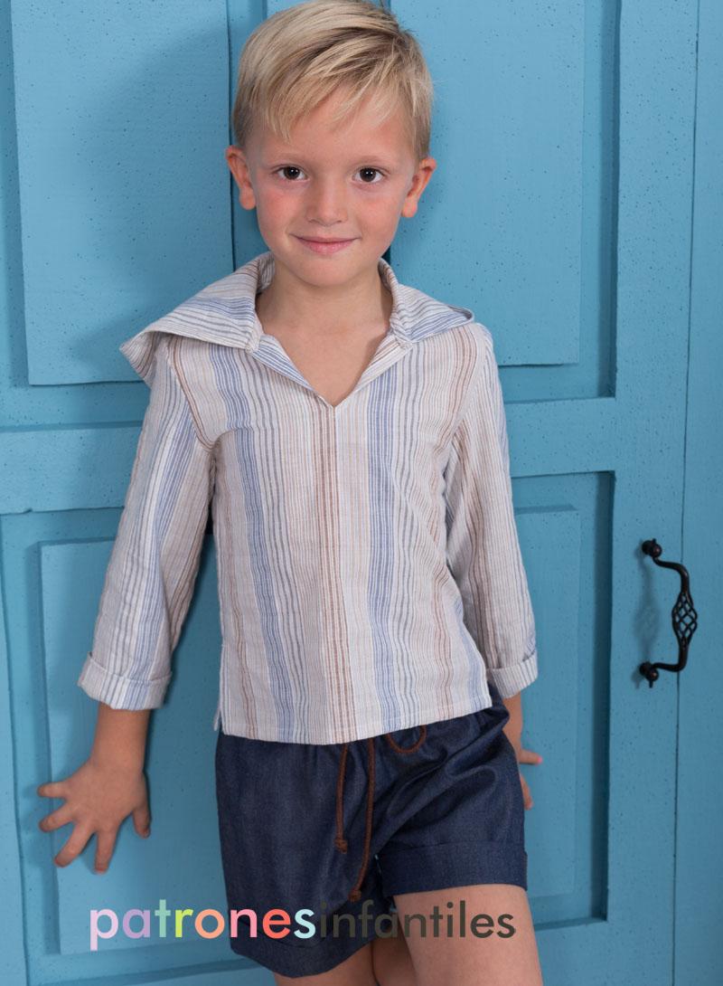 conjunto de blusa de niño