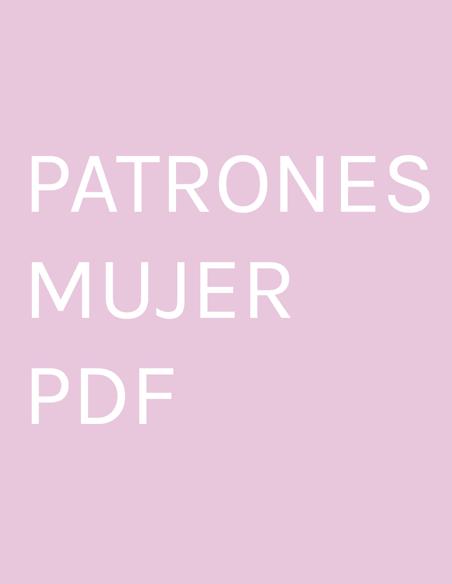 PATRONES MUJER PDF