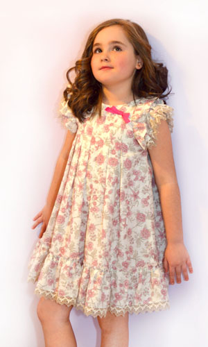 Patrón vestido de niña