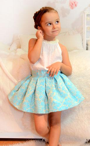 Conjunto falda midi